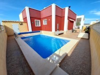 This is a two bed one bath villa with pool.