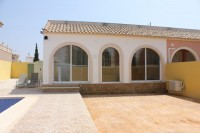 Two bed one bath corner bungalow with private pool